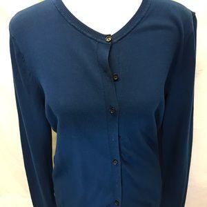 🍍Loft Button down cotton cardigan